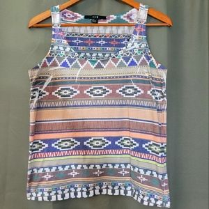 Forever 21 tribal pattern tank top size small
